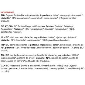 Chimpanzee Organic Protein Bar Box 25x45g, Pistachio (Vegan)
